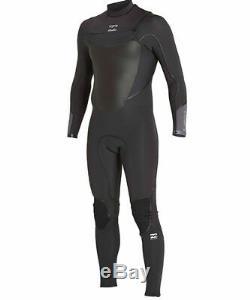 2017/18 Billabong Furnace Absolute X Chest Zip 5/4MM Mens Wetsuit Asphalt