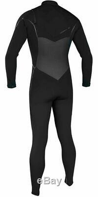 2017/18 O'Neill Psycho Freak 5/4mm Chest Zip Wetsuit Black 4984 Large Tall