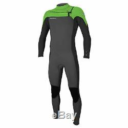 2019 Hammer 3/2mm chest zip Mens full wetsuit, Graphite, Dayglow