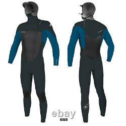 2020/21 O'neill Epic 6/5/4mm Mens Hooded Chest Zip Wetsuit Gunmetal Ultra Blue