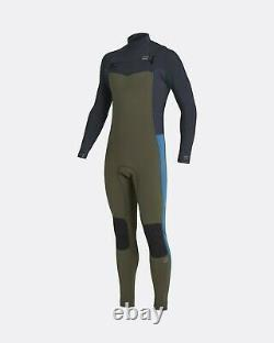 2021 Billabong 4/3mm Revolution Chest Zip Mens Wetsuit Olive