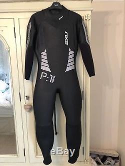 2XU Wetsuit Triathlon Run Suit Swimming Propel P1 Black-Silver Mens