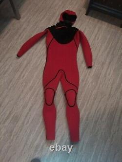 6/5/4mm Men's Body Glove RED CELL Hooded Fullsuit -Men's Large