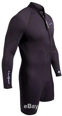 7mm NeoSport 2 Piece Wetsuit Combo Men's Step In Scuba Diving Premium Neoprene