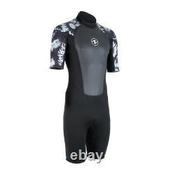 Aqua Lung Hydroflex 3mm Shorty Wetsuit Men Camo Black/White