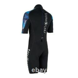 Aqua Lung Hydroflex 3mm Shorty Wetsuit Men Camo Blue