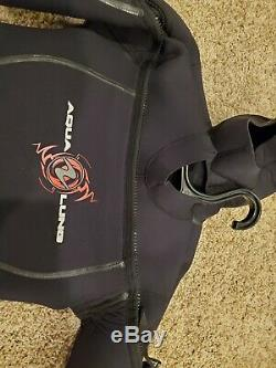Aqua Lung Solafx 8/7mm Men's Wetsuit Size Medium/Large, used once