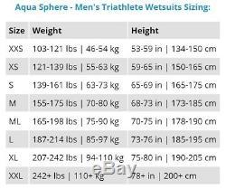 Aqua Sphere 2018 Pursuit Triathlon or Open Water Wetsuit, Men's Large