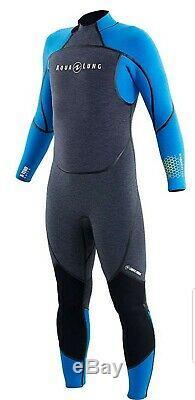 Aqualung Aquaflex 3mm Men's Wetsuit (Medium Large, Grey/Blue)