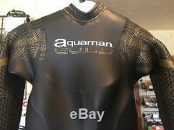 Aquaman Cell Gold Full Sleeved Triathlon Wetsuit Women's X-Large 2017