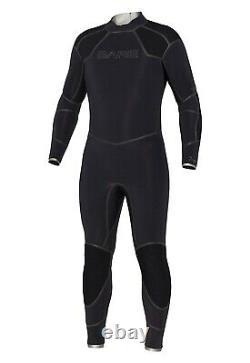 BARE 5mm Men's Elastek Full Wetsuit for Scuba Diving Freediving MED/LARGE Black