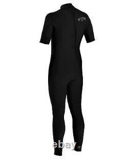 BILLABONG Men's 2/2 ABSOLUTE BZ S/S Wetsuit BLK Size Large NWT LAST ONE LEFT