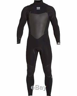 BILLABONG Men's 4/3 FURNACE CARBON X CZ Wetsuit BLK Large Short NWT