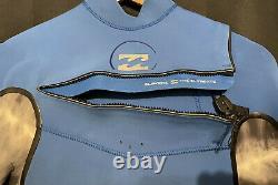BIillabong Xero Revolution Chest Zip 4/3 Wetsuit, Size LT, VGC