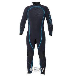 Bare 5mm Reactive Full Jumpsuit Wetsuit Mens Scuba Diving Dive Suit Black/Blue