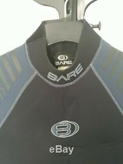 Bare Mens 7mm Wetsuit With Farmer John (Large Tall, black) with Gloves & Boots XL