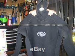 Bare Neoprene Rubber Semi Drysuit Men Xx-large Cold Water Wet Suit Super Warm