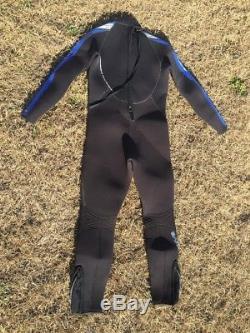 Bare Velocity 7mm Full Scuba Suit Men's Wetsuit Black /Blue Size ML Medium Large