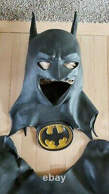 Batman costume armor. Latex outer armor for applying over muscle or wet suit