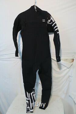Billabong 3/2 Furnace Carbon Comp Chest Zip Full Wetsuit Men's Large $299