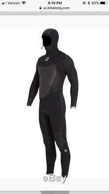 Billabong 5/4 Furnace Carbon X Hooded Chest Zip Wetsuit Men's Large 2017 $419