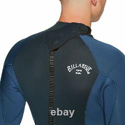 Billabong 5/4mm Intruder Back Zip Mens Wetsuit Navy All Sizes