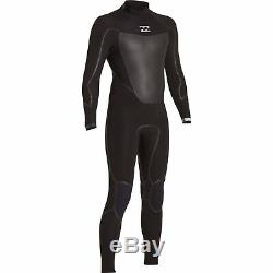 Billabong Absolute X 4/3 Back Zip Wetsuit Men's Large Tall, Black