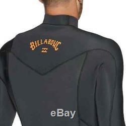 Billabong Mens 4/3 Winter Wetsuit Furnace Absolute Chest Zip Full Black Sands