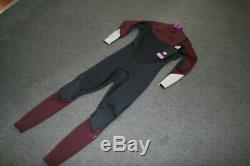 Billabong Mens Chest Front Zip Wetsuit Absolute Comp 3/2mm Large L Red Grey New