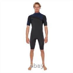 Body Glove Pr1me 2/2 Slant Zip Shorty Surfing Wetsuit, Navy, RRP £119. 70114