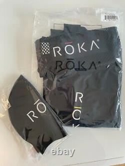 Brand New Roka Men's Short Sleeve Viper Pro Swimskin (large) + Free Swimcap