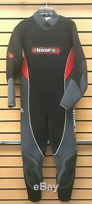 Brand-new Beuchat SP 5mm wetsuit. Size Extra Large Men's. Black/Red/Grey