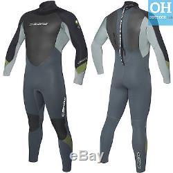 C-Skins Mens 5/4/3mm Surflite Full Length Neoprene Surf Wetsuit Back Zip Steamer