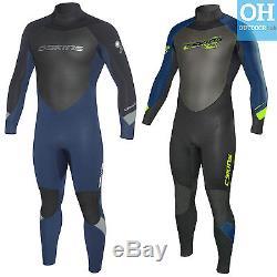 C-Skins Mens Surflite 4/3mm Full Length Neoprene Surf Wetsuit Back Zip Steamer