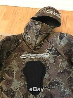 Cressi Mens Large SubTecnica Camouflage Free Dive Spearfishing Wetsuit 7mm