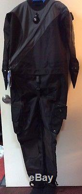 DUI DRYSUIT NEW mens LARGE TLS350 Classic withXL turbo soles