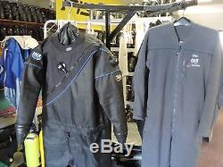 DUI TLS 350 NEW Drysuit Lrg (withfree Power Stretch Underwear Lrg Barely Used)
