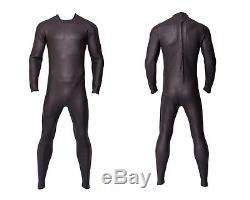 Gray Black Triathlon Wetsuit Tri Suit Full Body 3mm Smooth Skin Buoyant Neoprene