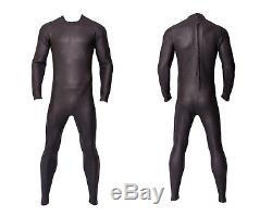 Gray Black Triathlon Wetsuit Tri Suit Full Body 3mm Smooth Skin Buoyant Neoprene