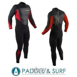 Gul Mens Response 5/3mm Blindstitch Steamer Full Length Wetsuit Black/Red