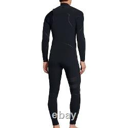 HURLEY Men's 3/3 ADVANTAGE MAX ZipFree Wetsuit BLK Large Tall NWT