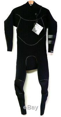 HURLEY Men's 4/3 ADVANTAGE MAX Zip Free Wetsuit Black Large NWT