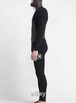 HURLEY Men's 403 PHANTOM HOODED CZ Wetsuit BLK Large Short NWT