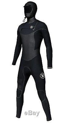 HURLEY PHANTOM 403 Hooded Fullsuit Sz XL Black MFS-0000250 Mens X Large Wetsuit
