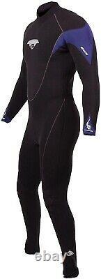 Henderson Men's H2 7mm Wetsuit Jumpsuit (Black/Blue, Size Large) Never Worn