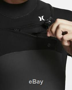 Hurley Advantage Plus 3/2mm Wetsuit Fullsuit Black White BV4394-010 Men's LARGE