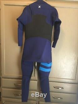 Hurley Advantage Plus 4/3mm FS Wetsuit Surfing Fullsuit Blue Black Large Short