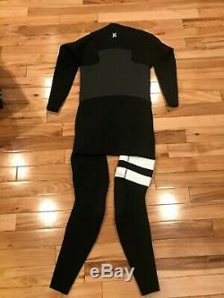 Hurley Advantage Plus 5/3 Fullsuit Wetsuit Black White MFS0000580 Men's LARGE