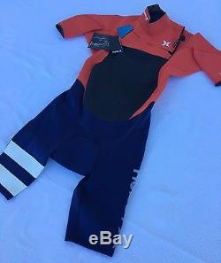 Hurley Fusion 202 Wetsuit Spring Suit Orange Navy Men's Size Large