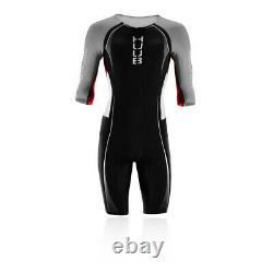 Huub Mens Anemoi Long Course Tri Suit Black White Sports Swimming Triathlon